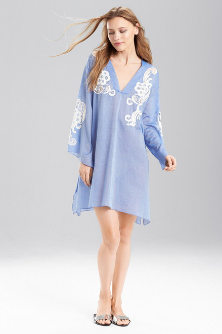 Buy Josie Natori Cotton Voile With Lace Tunic from