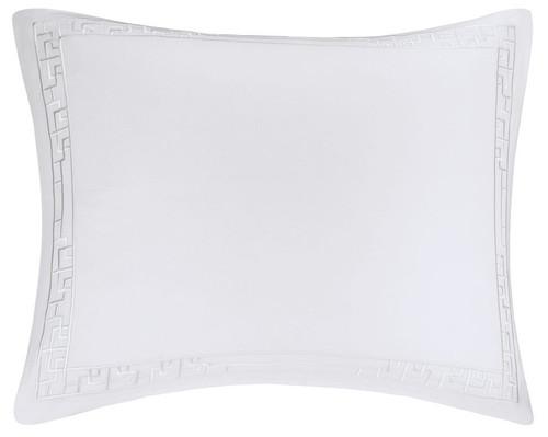 Ming Fretwork White/White Sham at The Natori Company
