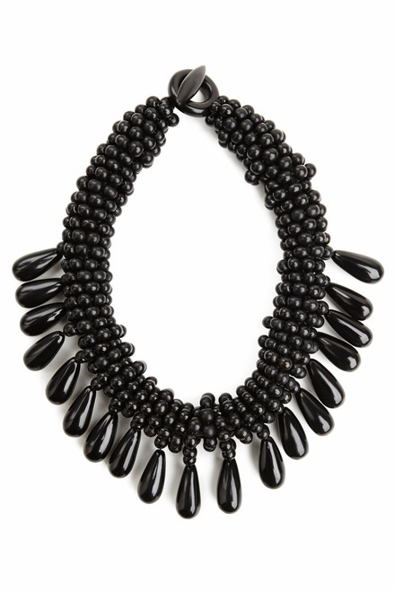 Josie Natori Horn Cluster Necklace at The Natori Company