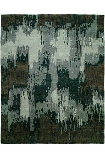 Buy Natori Dynasty- Brushstroke Gray Tones Rug from