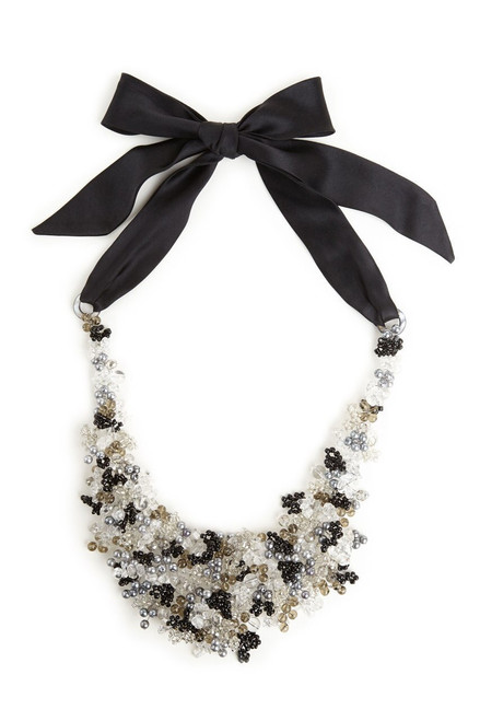 Buy Josie Natori Beaded Bib Necklace - Black from