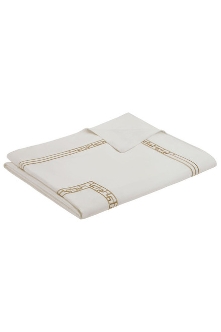 Buy Ming Fretwork White/Champagne Duvet from
