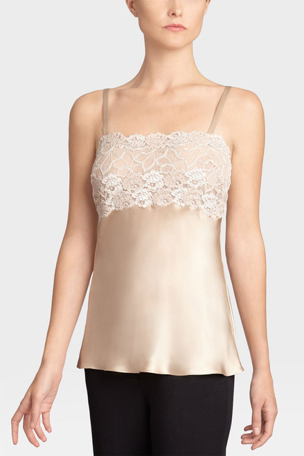 Josie Natori Rose Parfait Camisole with Lace at The Natori Company