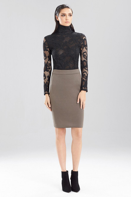 Josie Natori Double Face Bonded Jersey Pencil Skirt at The Natori Company