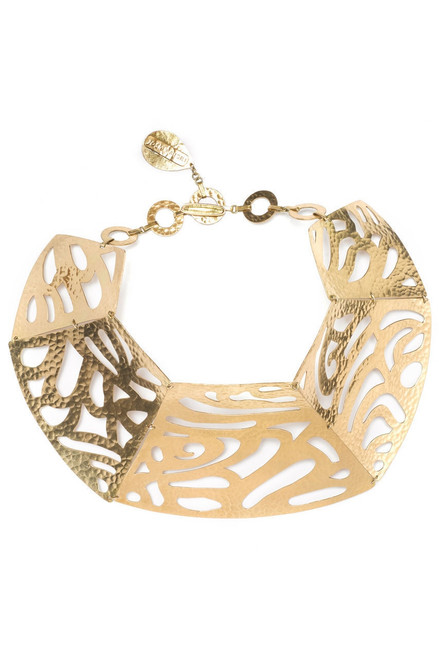 Buy Josie Natori Gold Cut-Out Necklace from