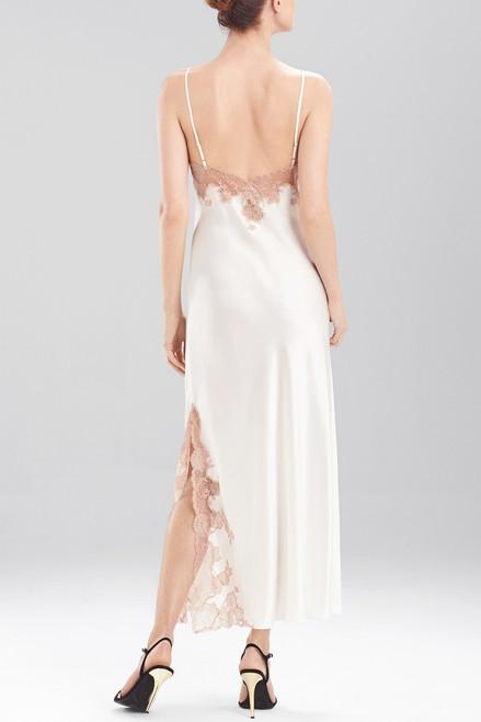 Josie Natori Lolita Lace Trim Gown at The Natori Company
