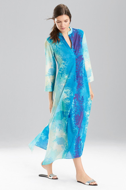 Buy Natori Floral Stream Zip Caftan from