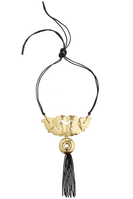 Josie Natori Beaded Tassel Necklace at The Natori Company
