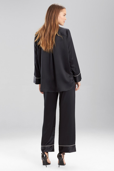 Natori Solid Charmeuse Essentials Long Sleeve PJ at The Natori Company