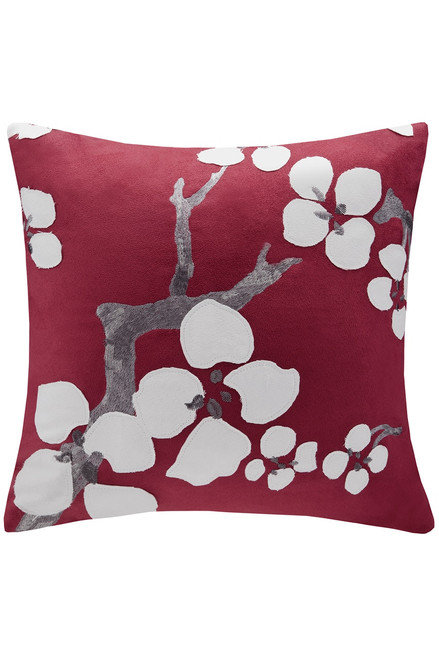 N Natori Cherry Blossom Square Pillow with Flowers at The Natori Company