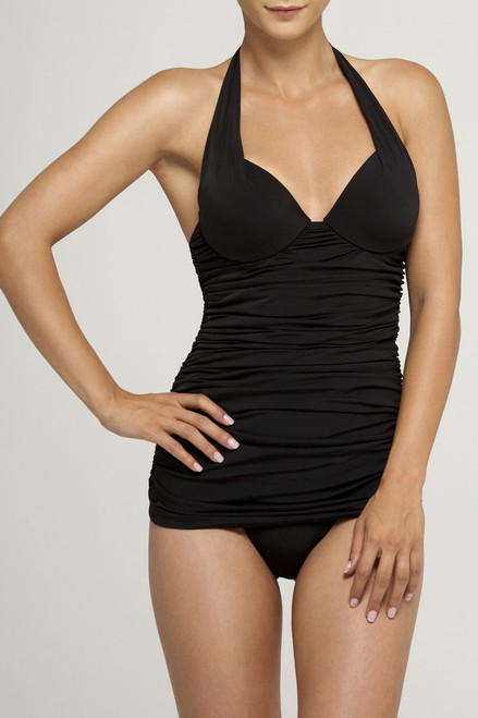Buy Black Push Up Plunge Maillot from