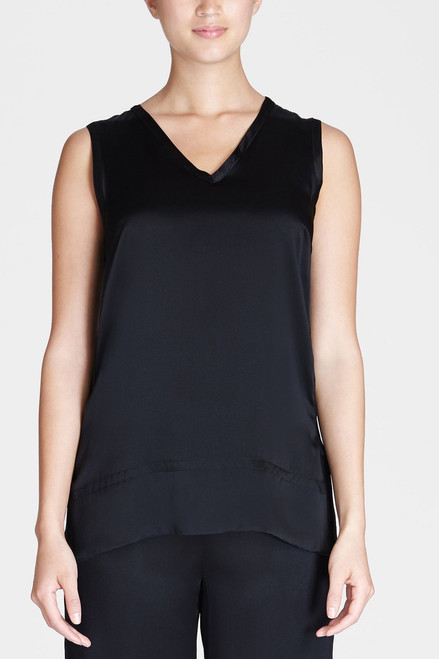 Josie Natori Key V-Neck Tank at The Natori Company