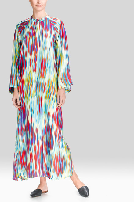 Buy Natori Ikat Zip Caftan from