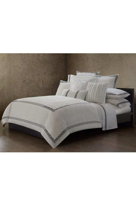 Ming Fretwork White/Black Sheet at The Natori Company