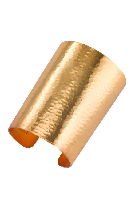 Buy Hammered Gold Cuff from