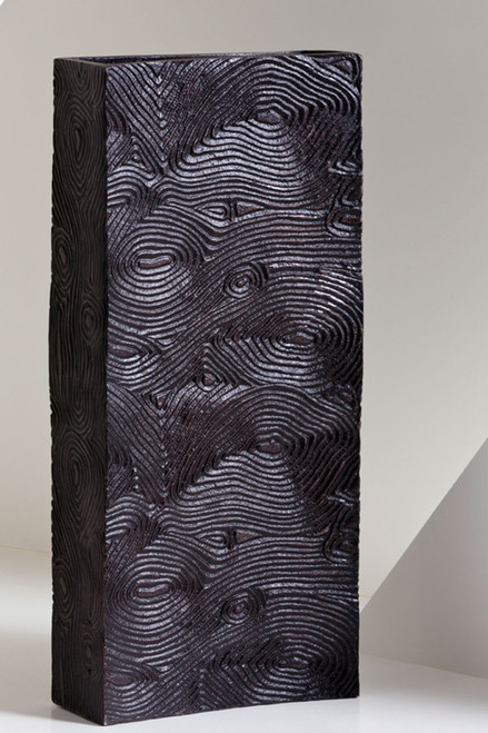 Wood Grain Tall Vase at The Natori Company