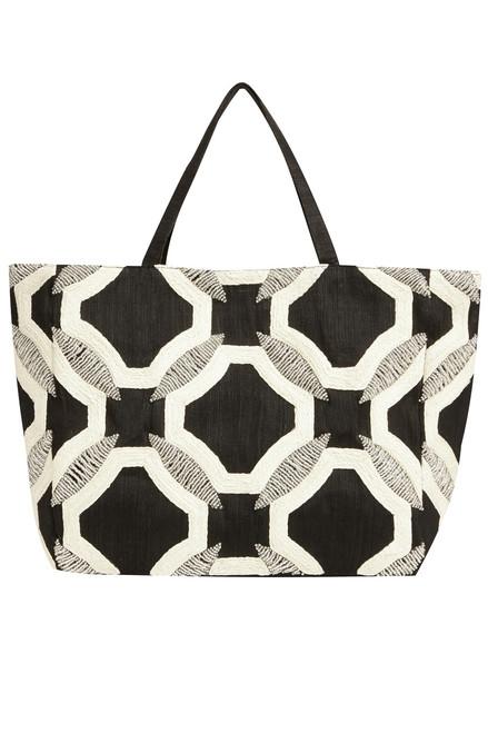 Buy Josie Natori Contrast Geo Bag from