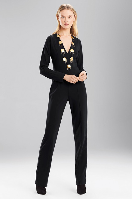 Buy Josie Natori Double Knit Jersey Jumpsuit from