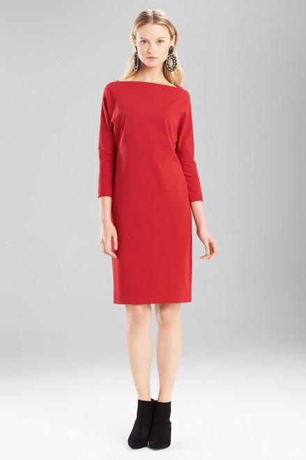 Buy Josie Natori Double Knit Jersey Boatneck Dress from