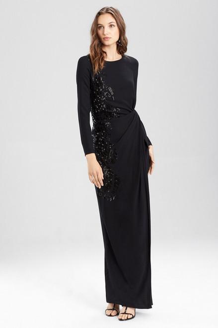 Buy Josie Natori Crepe Twist Dress With Embellishment from
