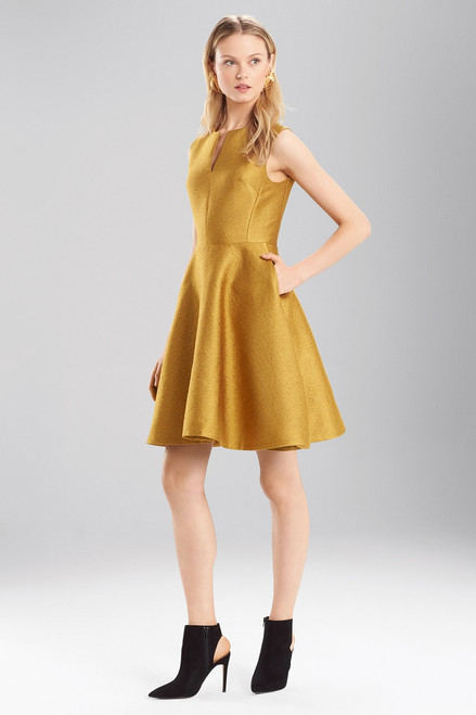 Buy Josie Natori Pebble Jacquard Fit And Flare Dress from