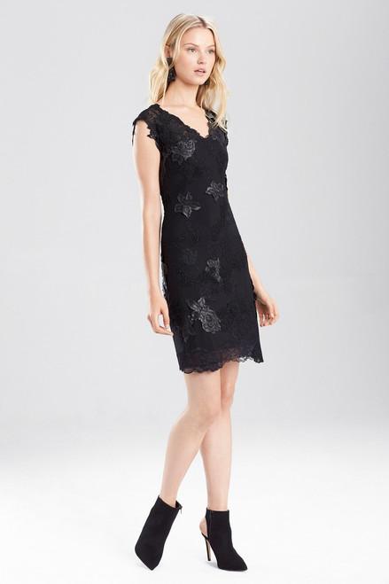 Buy Josie Natori Duchess Satin Mesh Cocktail Dress from