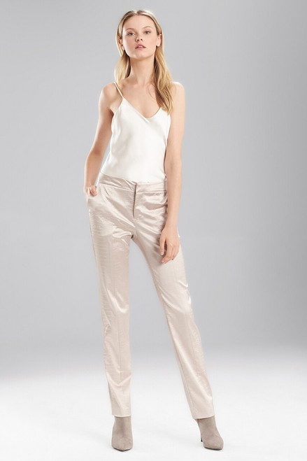 Buy Josie Natori Stretch Embossed Crocodile Ankle Pants from