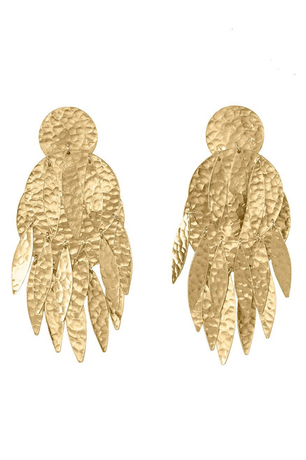 Buy Josie Natori Gold Brass Dangling Earrings from
