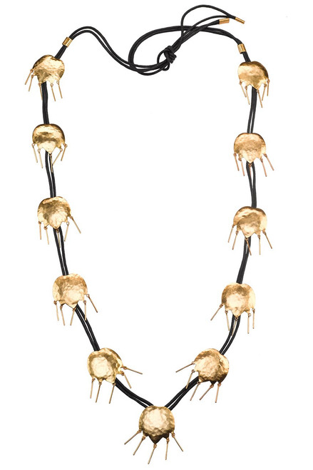 Buy Josie Natori Gold Brass Tulip Necklace from