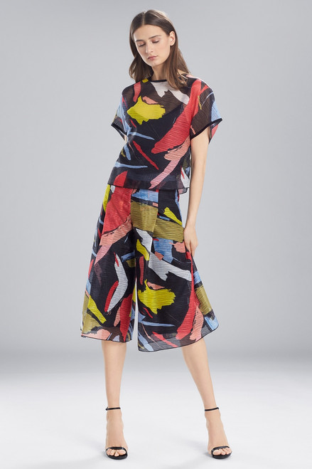 Buy Josie Natori Printed Gauze Short Sleeve Top from