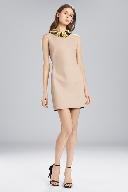 Buy Josie Natori Faux Leather Sleeveless Dress from