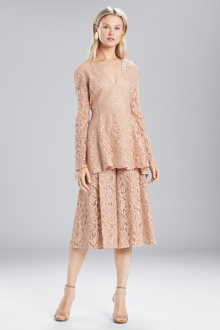 Buy Josie Natori Lacquer Lace Nude Top from