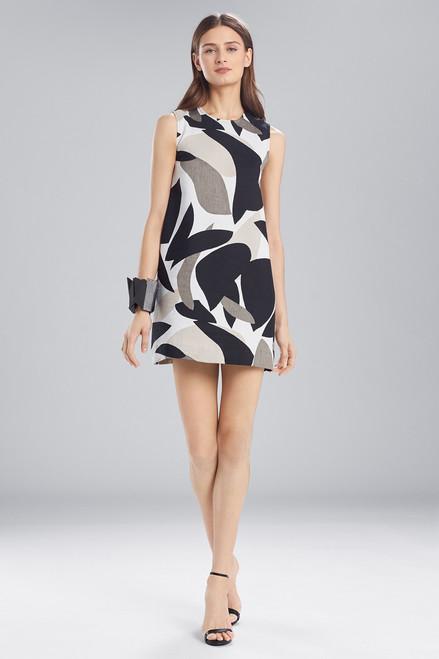 Buy Josie Natori Abstract Printed Jacquard Sleeveless Dress from