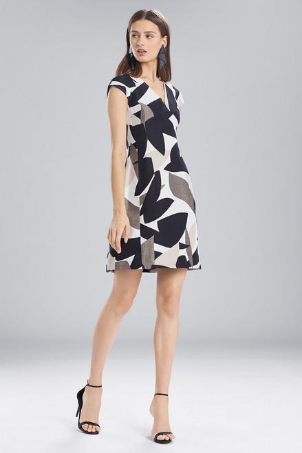 Buy Josie Natori Abstract Printed Jacquard Sleeveless Seam Dress from