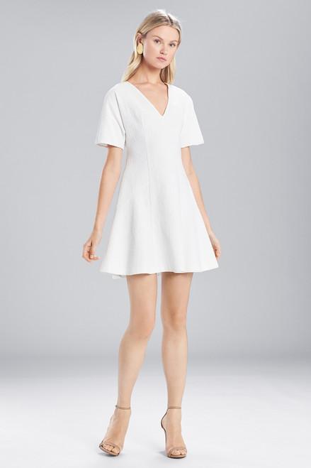 Buy Josie Natori Textured Cotton Short Sleeve Dress from