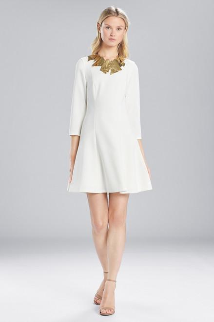 Buy Josie Natori Solid Crepe Longsleeve Dress from