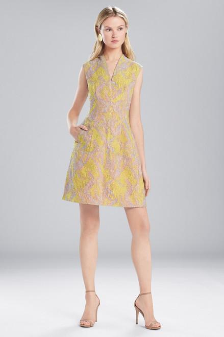 Buy Josie Natori Evening Jacquard V-Neck Dress from