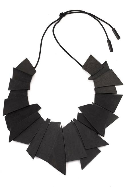 Buy Josie Natori Acacia Wood Geometric Necklace from