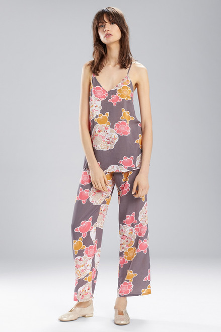 Buy Josie Enchanted Garden PJ Set Charcoal With Hibiscus from