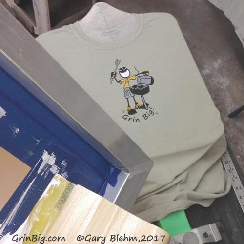 Printing grin big t shirts at penmen studios grin big for T shirt printing in colorado springs