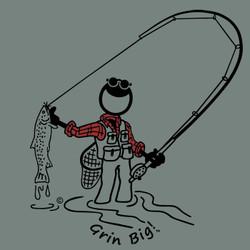 Grin Big!™ T-Shirt - Fly Fishing