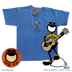 Penman The Optimist plays his acoustic guitar on this great t-shirt for the musician. Rock those positive vibes and spread the power of optimism.