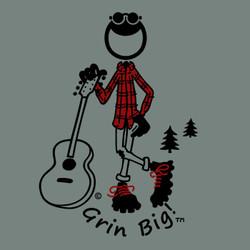 Grin Big!™ T-Shirt - Guitarist Outdoors