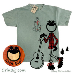 Guitar Player T-Shirt from Grin Big!™ Apparel
