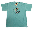 Men's green casual and comfortable soft ring spun cotton Hiking Tee Shirt from the official Grin Big!™ clothing website to help the dreamer follow big dreams on the hike of optimism and positivity.