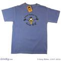 Men's 100% Ring Spun Cotton T-Shirt featuring Penman the Optimist spreading positive vibes since 1989