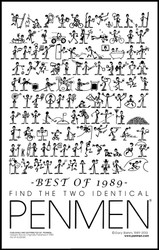 Find Two Identical PENMEN® - 11 x 17 - Best of 1989