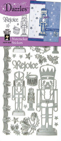 HOTP Dazzles NUTCRACKER Outline Stickers SILVER 2048
