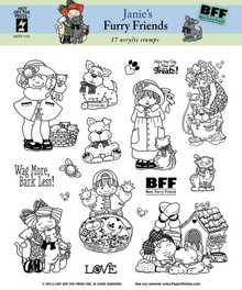 17 HOTP Janie's Furry Friends 1173 Rubber Stamps Janie Dawson Unmounted