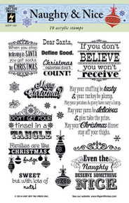 HOTP Clear Stamps NAUGHTY & NICE 1157 Acrylic SAYINGS